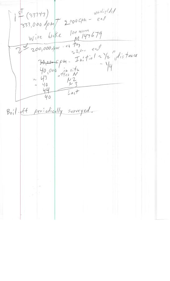 BL-13 cryo experiment notes